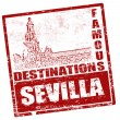 Sevilla stamp - Imagens vectoriais em stock