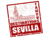 Sevilla stamp — Stockvektor