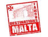 Malta stamp — Stock Vector