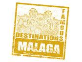 Malaga stamp — Stock Vector