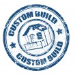 Custom build stamp — Stock Vector