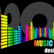 Stock Vector: Music design