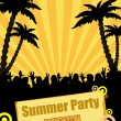 Summer party design — Stock Vector