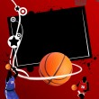 Stock Vector: Basketball banner