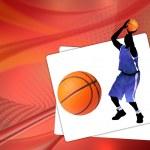 Basketball background — Stock Vector