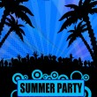 Summer party design - Stock Vector