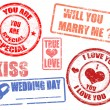Stock Vector: Wedding stamps
