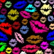 Colorful lips prints — Stok Vektör