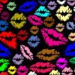 Colorful lips prints — Stock vektor