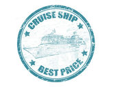 Crociera nave - timbro di prezzo migliore — Vettoriale Stock