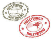 Hollywood stamps — Stock Vector