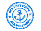 Sea-Port Town stamp — Stock Vector