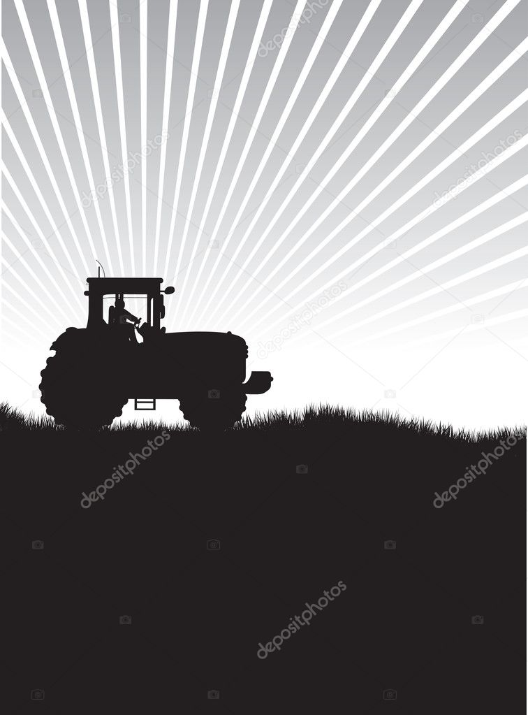 Tractor in a field — Stock Photo #6656436