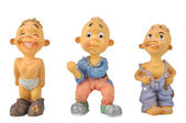 Figurines of boys — Stock Photo