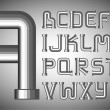 Funnels alphabet - Stok Vektr
