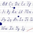 onjuiste handschrift alfabet — Stockvector