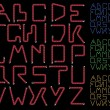 Royalty-Free Stock Vector Image: Neon alphabet