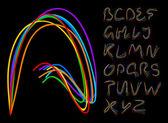 Optical fiber alphabet — Stock Vector