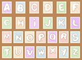 Stamp alphabet — Stock Vector