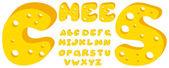 Cheese alphabet — Stock Vector