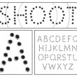 Stock Vector: Shooter alphabet