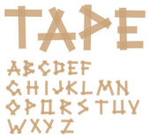 Adhesive tape alphabet — Stock Vector