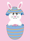 Cute Easter Egg Bunny — Stock Vector