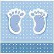 Baby Boy Feet - Stock Vector