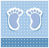 Baby Boy Feet — Stock Vector