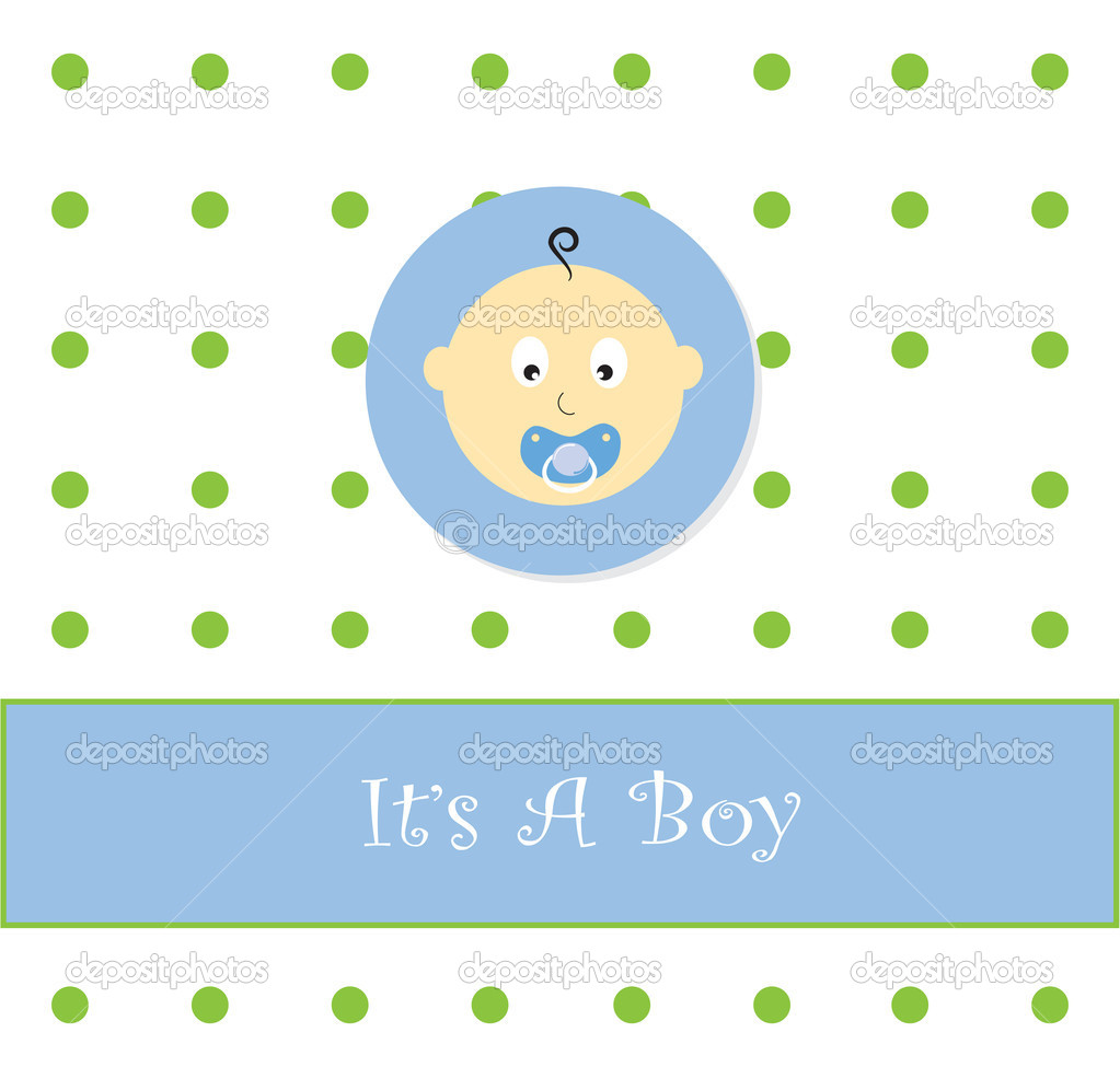 It's a boy baby announcement — Stock Vector #5620171