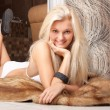Beautiful young girl with pretty blond hair - Stock Photo