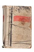 Vintage old damaged book — Stock Photo