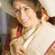 Indian wedding - preparation of bride — Stock Photo