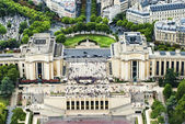 Chaillot palace view from Eifell tower — Stock Photo