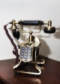 Closeup of vintage telephone — Stock Photo