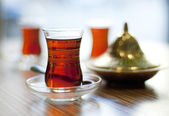 Traditional turkish tea — Stock Photo
