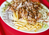 Turkish plate kebab — Stock Photo