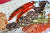 Turkish kofte (meat ball) — Stock Photo