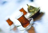 Traditional turkish tea — Stock Photo