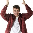 Young happy handsome man — Stock Photo