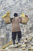 Sulfur from Ijen Crater in West Java Indonesia — Stock Photo