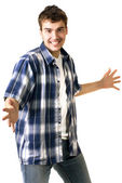 Man with happy facial expression — Stock Photo