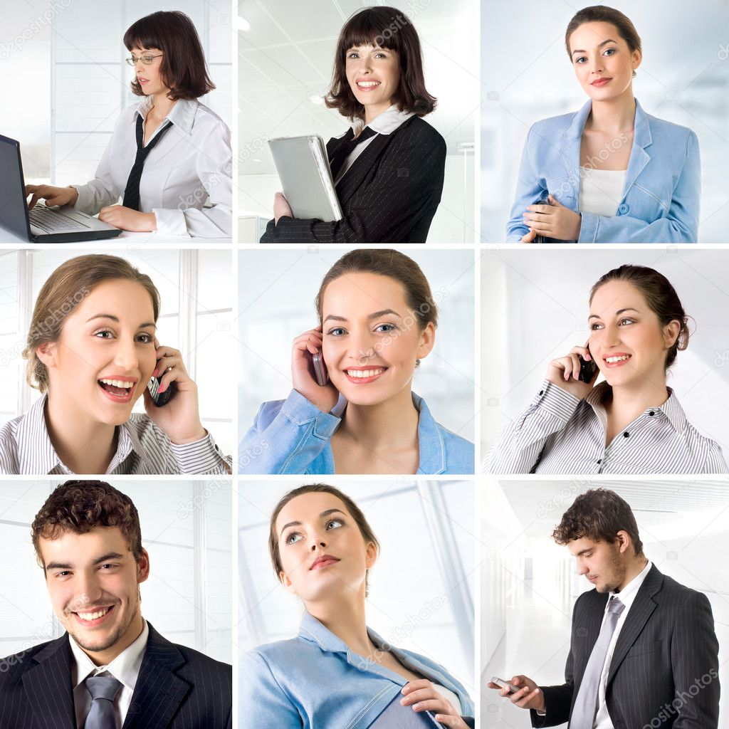 Business collage made of 9 business pictures  Stock Photo #5812690