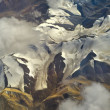 Stock Photo: Aerial photo of the landscape in Tibet