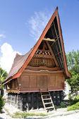 Traditional Batak house on the Samosir island. — Stock Photo