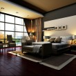 Rendering of home interior focused on bed room  — Stockfoto