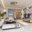 Stock Photo: Modern design interior of living-room