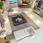 Modern design interior of living-room — Stock Photo