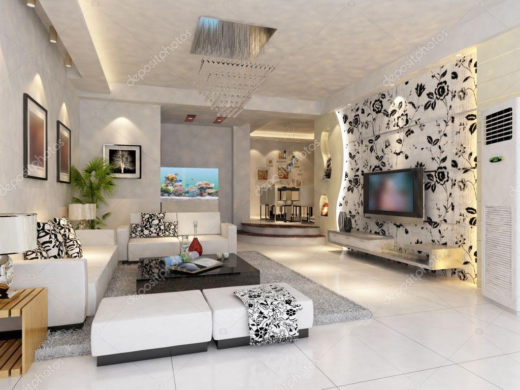 interior design moderno : Interior design moderno del soggiorno ? Foto Stock ? baojia1998 ...