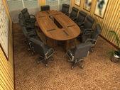 A imagem gerada do computador da sala de conferências modernas — Foto Stock